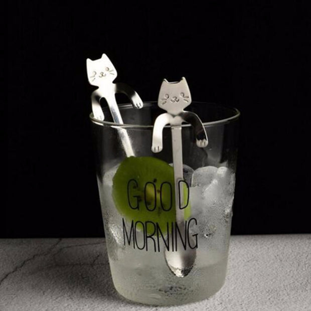 """I LOVE CATS"" New Cute Cat Coffee & Tea Spoons ""I LOVE CATS"""