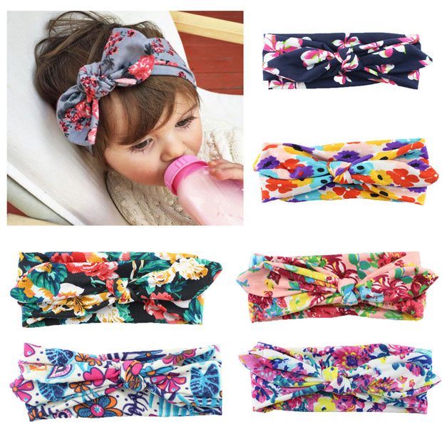 Bohemian Model Hair Band With Printed Fabric That Gives A Delicate Finish