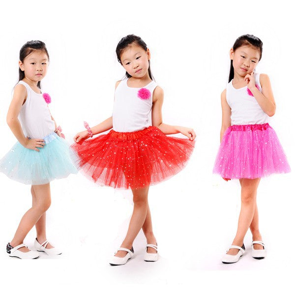 Bright Skirt In Tulle For Girls In Fun Colors