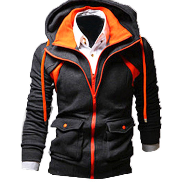 SWEATSHIRT FOR THE WINTER WITH HOOD FOR ALL OCCASION ZIPPER AND MODERN COLORS