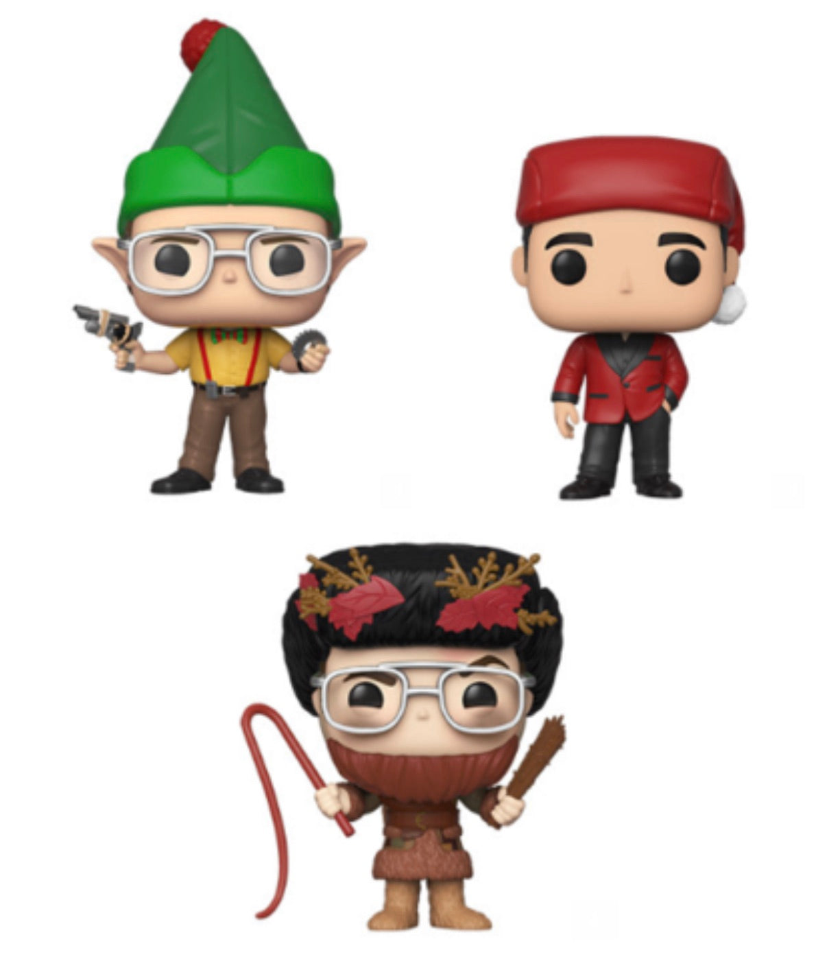 THE OFFICE HOLIDAY FUNKO POP! COMPLETE SET OF 3 (PRE-ORDER)