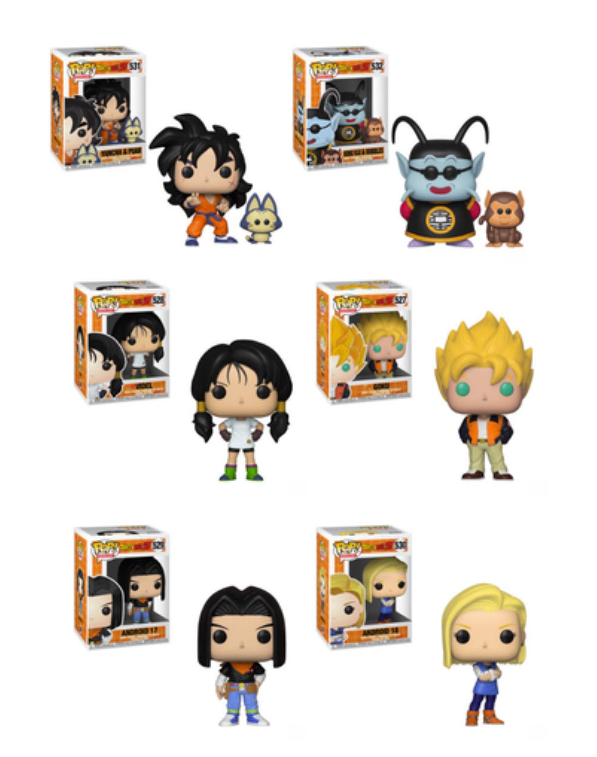 DRAGON BALL Z FUNKO POP! COMPLETE SET OF 6 (PRE-ORDER)