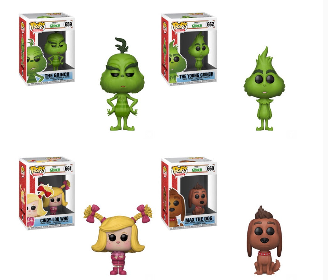 The Grinch Funko Pop! Complete Set of 4