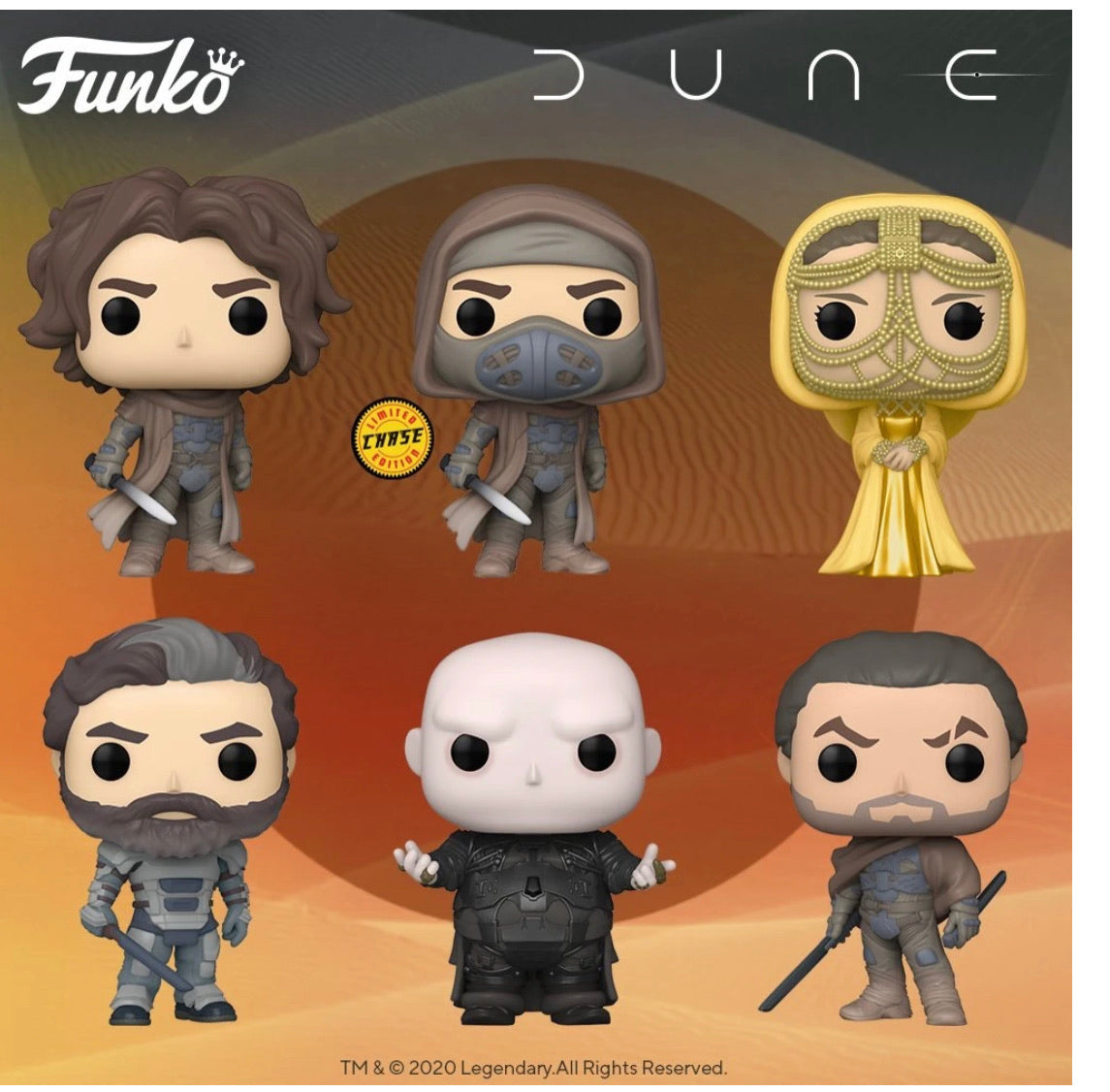 POP! Movies: Dune, Bundle of 6 w/ Chase (PREORDER)
