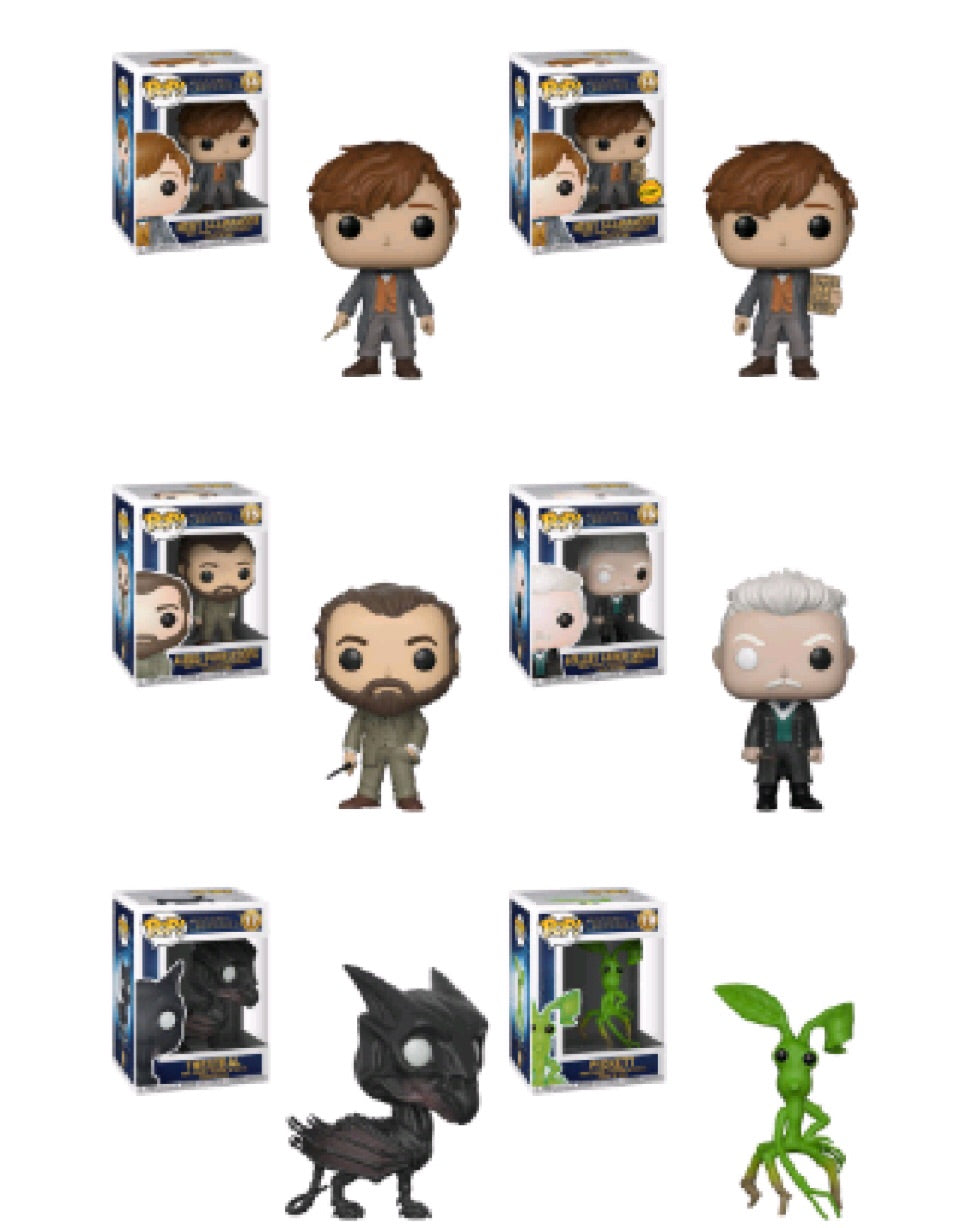 Crimes of Grindelwald Funko Pop! Complete Set of 6 CHASE Included.
