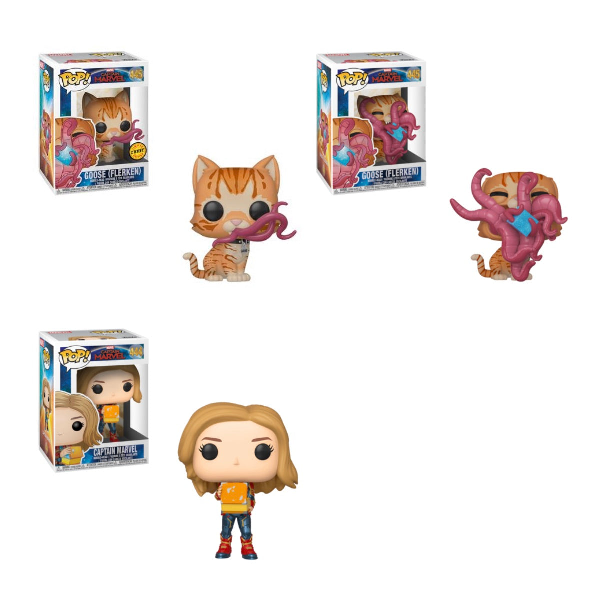 PRE-ORDER - POP! Marvel: Captain Marvel Bundle of 3 with Chase