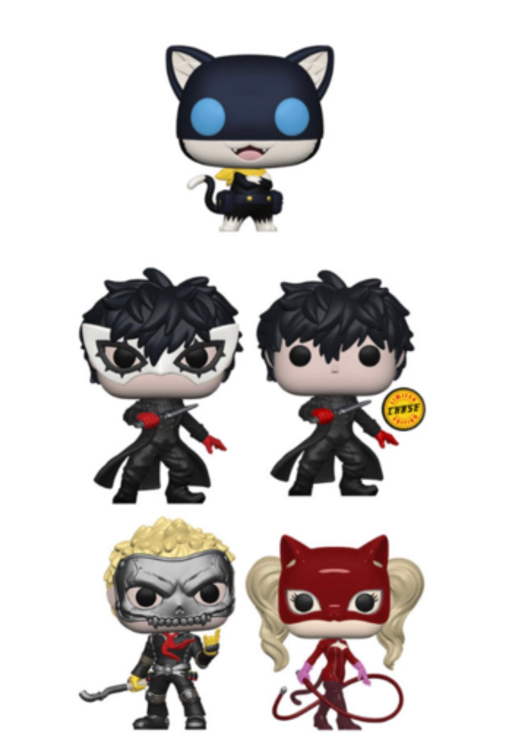 PERSONA 5 FUNKO POP! COMPLETE SET OF 5 CHASE INCLUDED (PRE-ORDER)