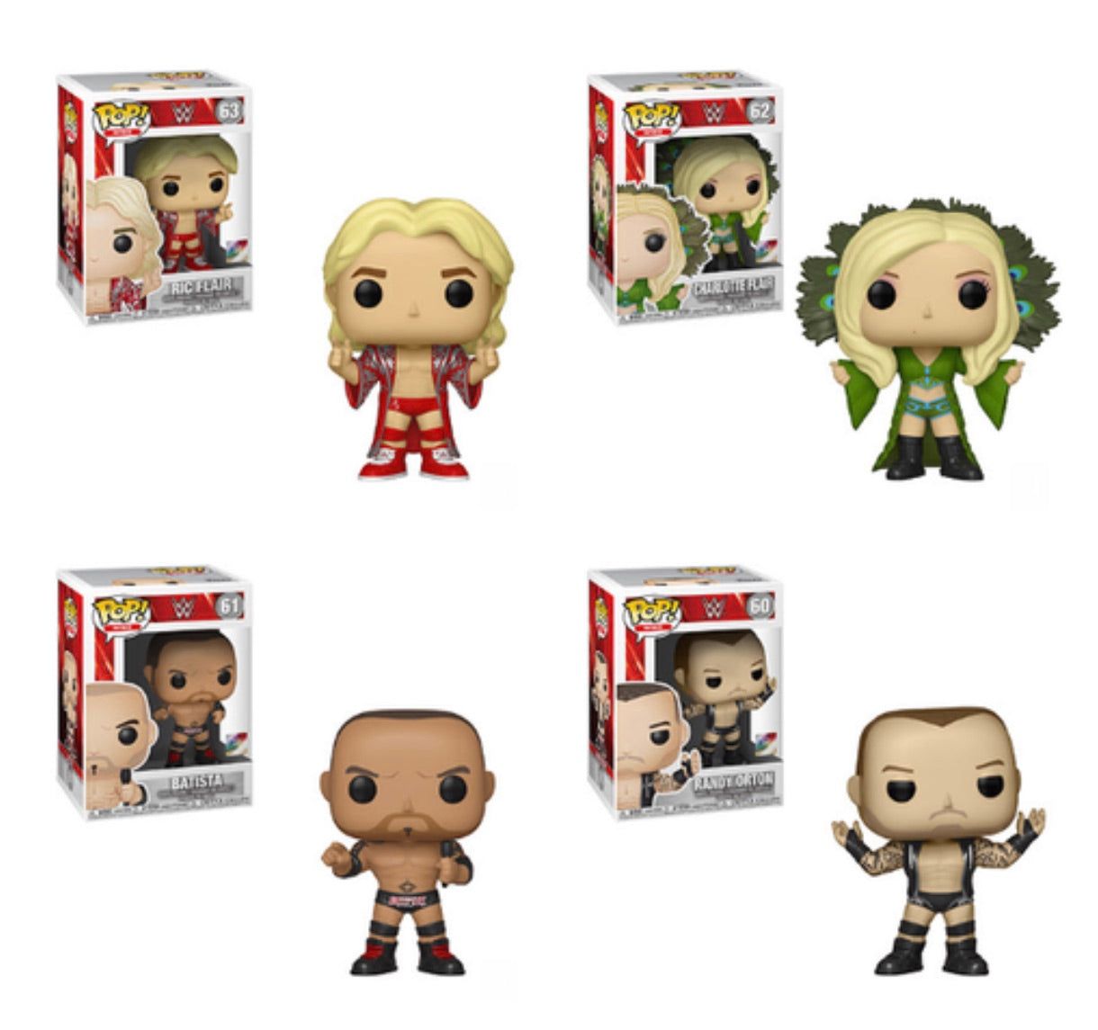 WWE FUNKO POP! COMPLETE SET OF 4 (PRE-ORDER)