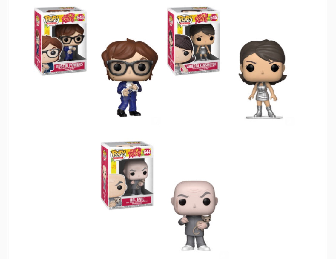 Austin Powers Funko Pop! Complete Set of 3 (Pre-Order