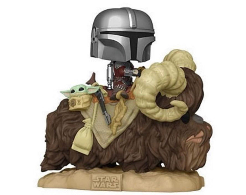 Pop! Star Wars: Mandalorian: Mandalorian on Bantha w/Child