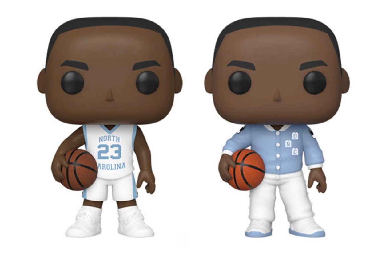 POP! BASKETBALL - UNIVERSITY OF NORTH CAROLINA MICHAEL JORDAN SET OF 2(PREORDER)