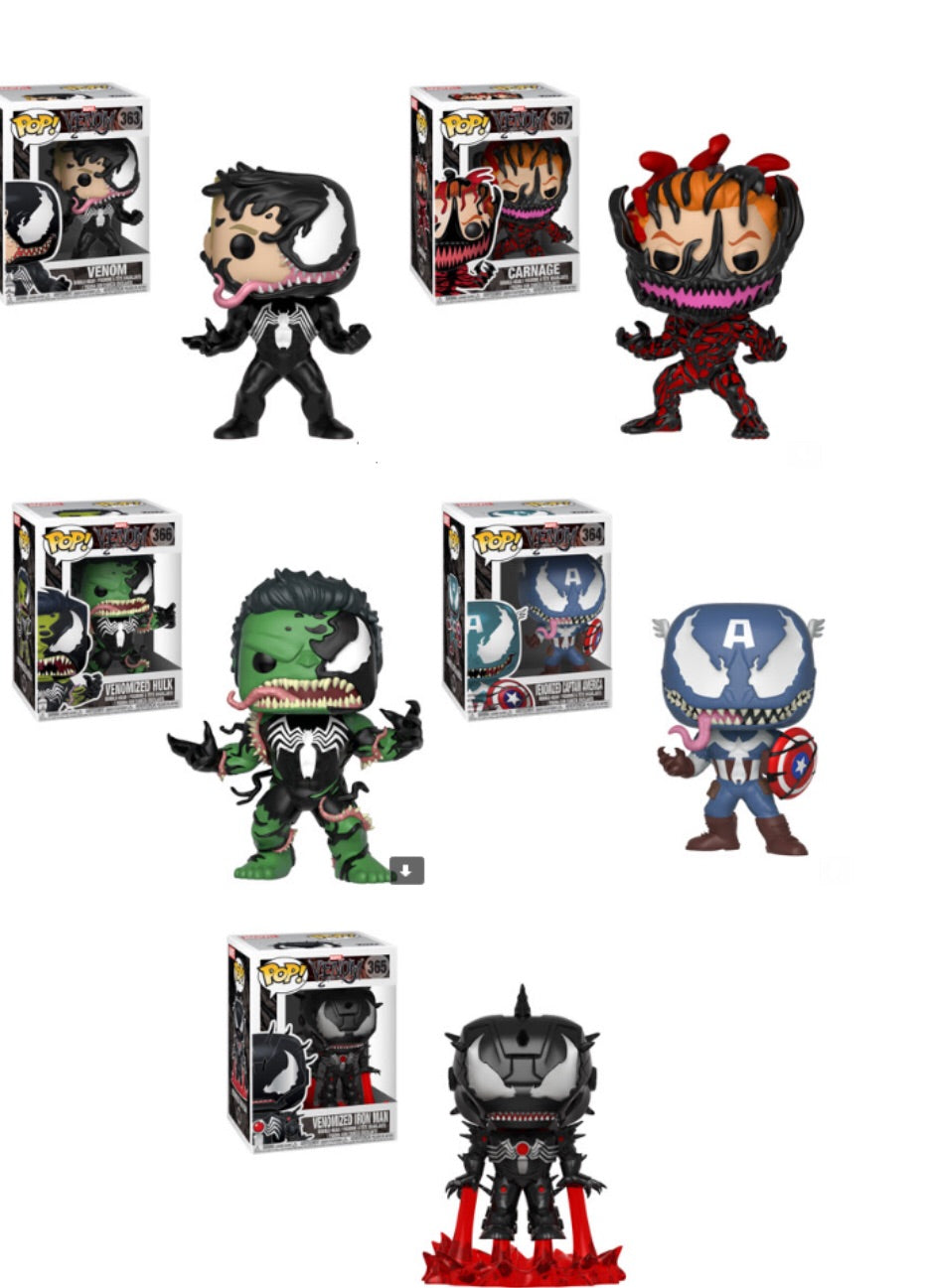 Venom Funko Pop! Complete Set of 5