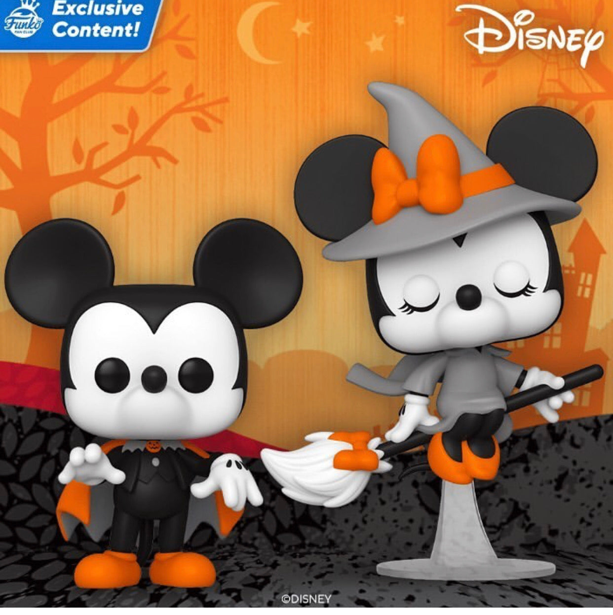POP! DISNEY - HALLOWEEN MICKEY AND MINNIE