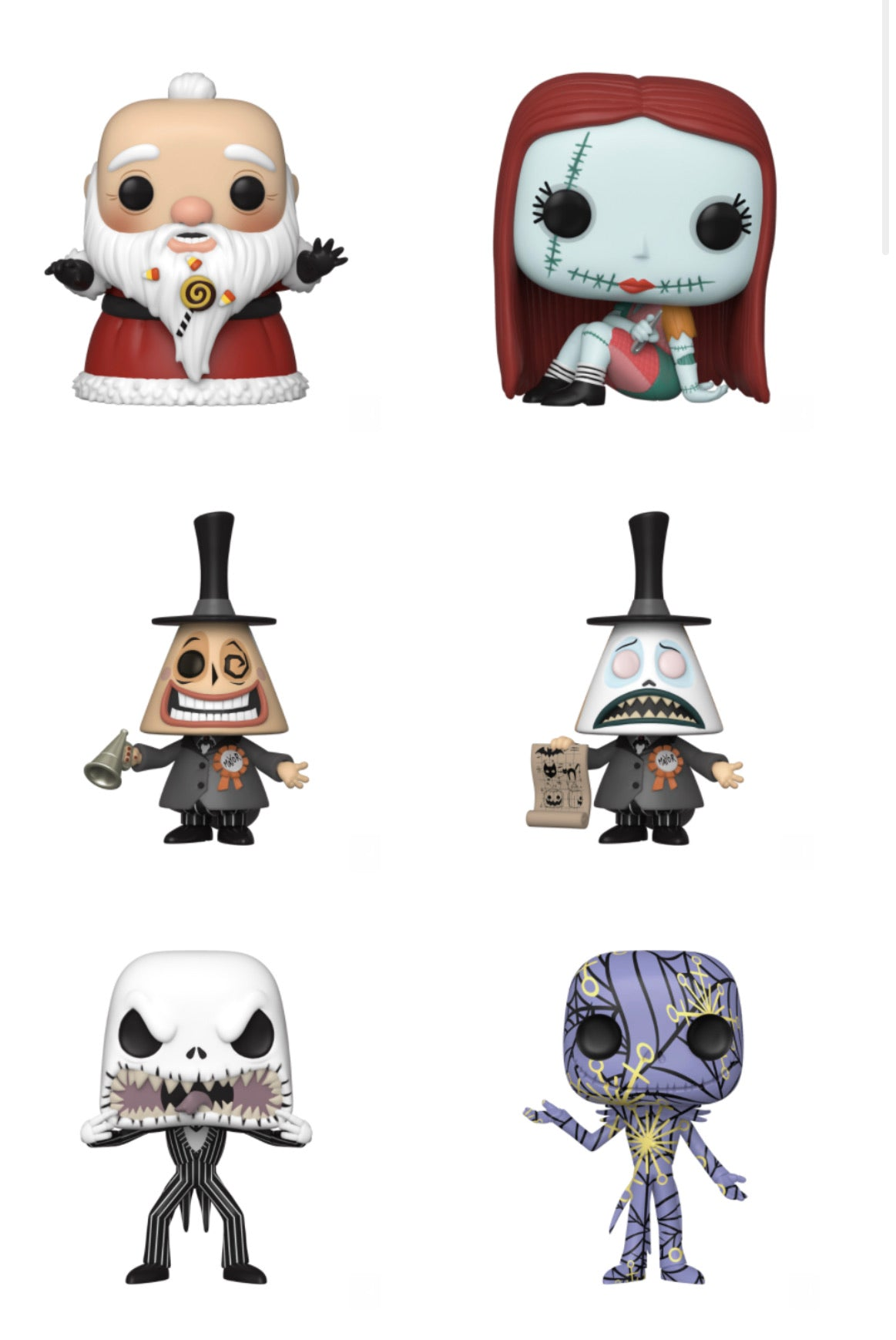 POP! Disney: The Nightmare Before Christmas, Bundle of 6 w/ Chase