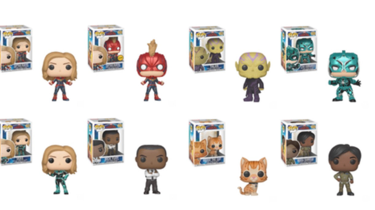 CAPTAIN MARVEL FUNKO POP! CAPTAIN MARVEL SET OF 8 CHASE BUNDLE (PRE-ORDER)