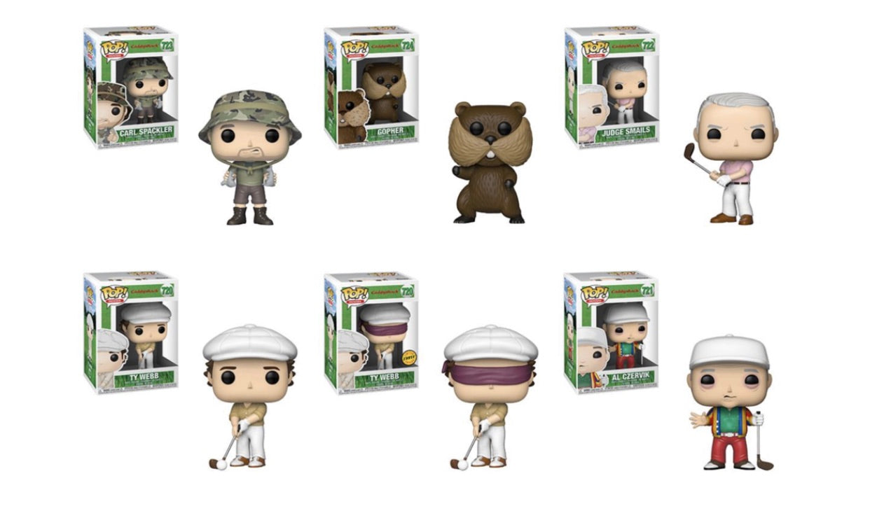 (Preorder) Pop! Movies: Caddyshack - Bundle w/Chase
