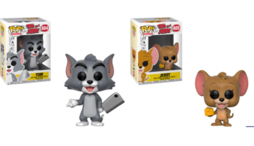 TOM AND JERRY FUNKO POP! COMPLETE SET OF 2