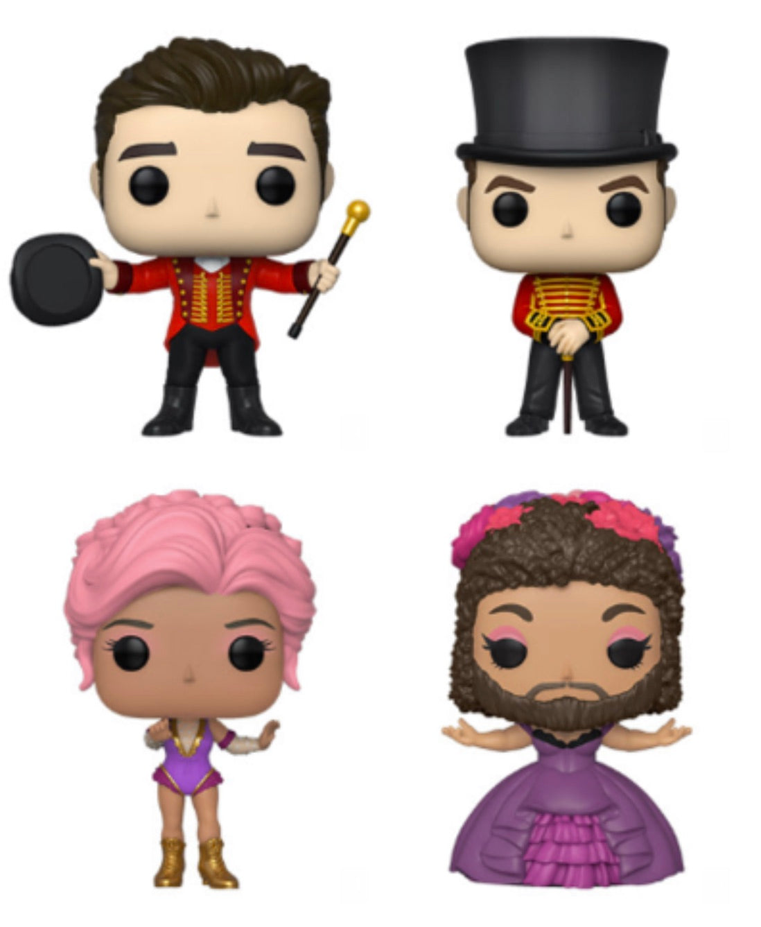 THE GREATEST SHOWMAN FUNKO POP! COMPLETE SET OF 4 (IN STOCK)