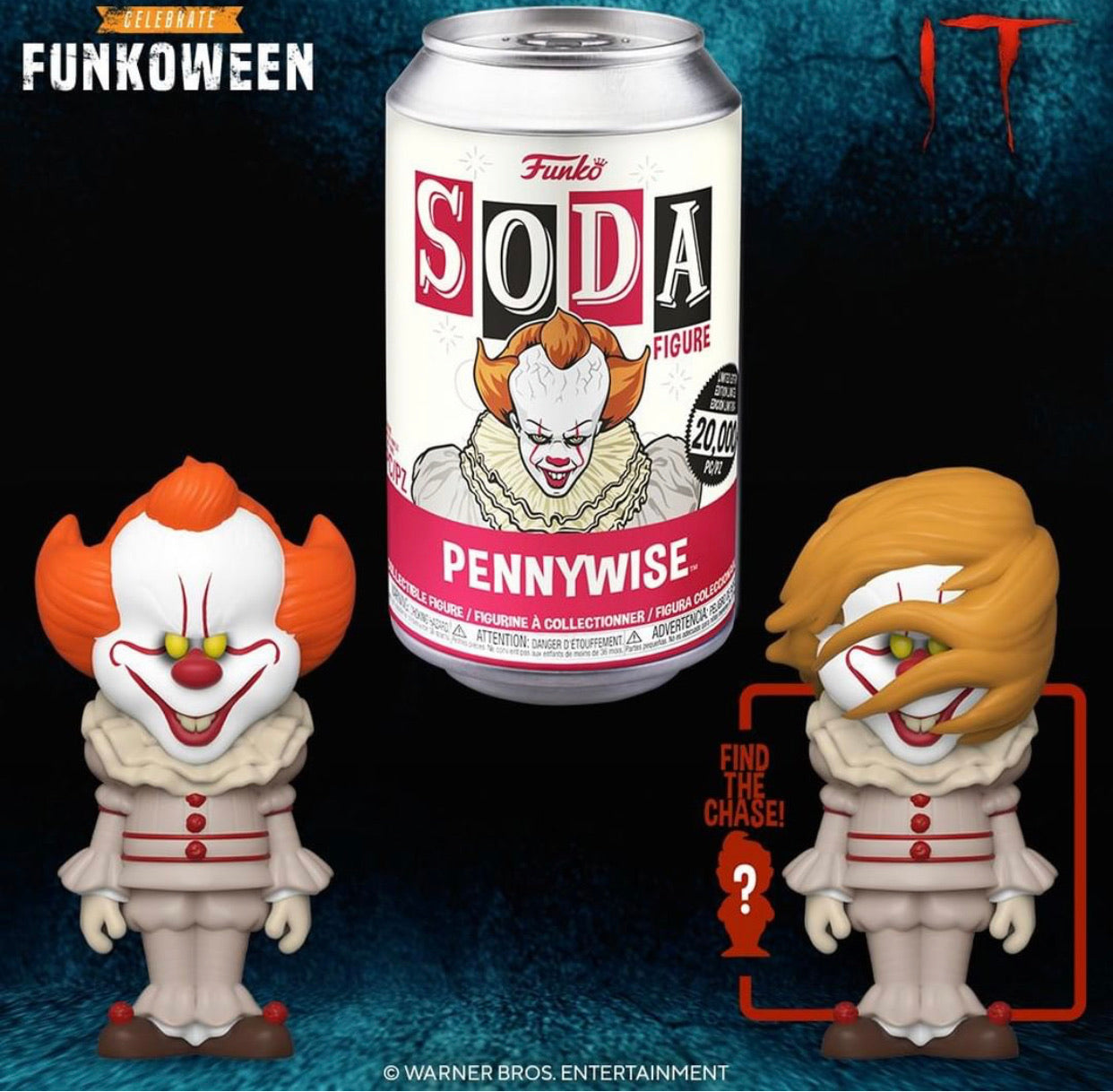 Vinyl SODA: IT Movie- Pennywise w/Chase(PREORDER)