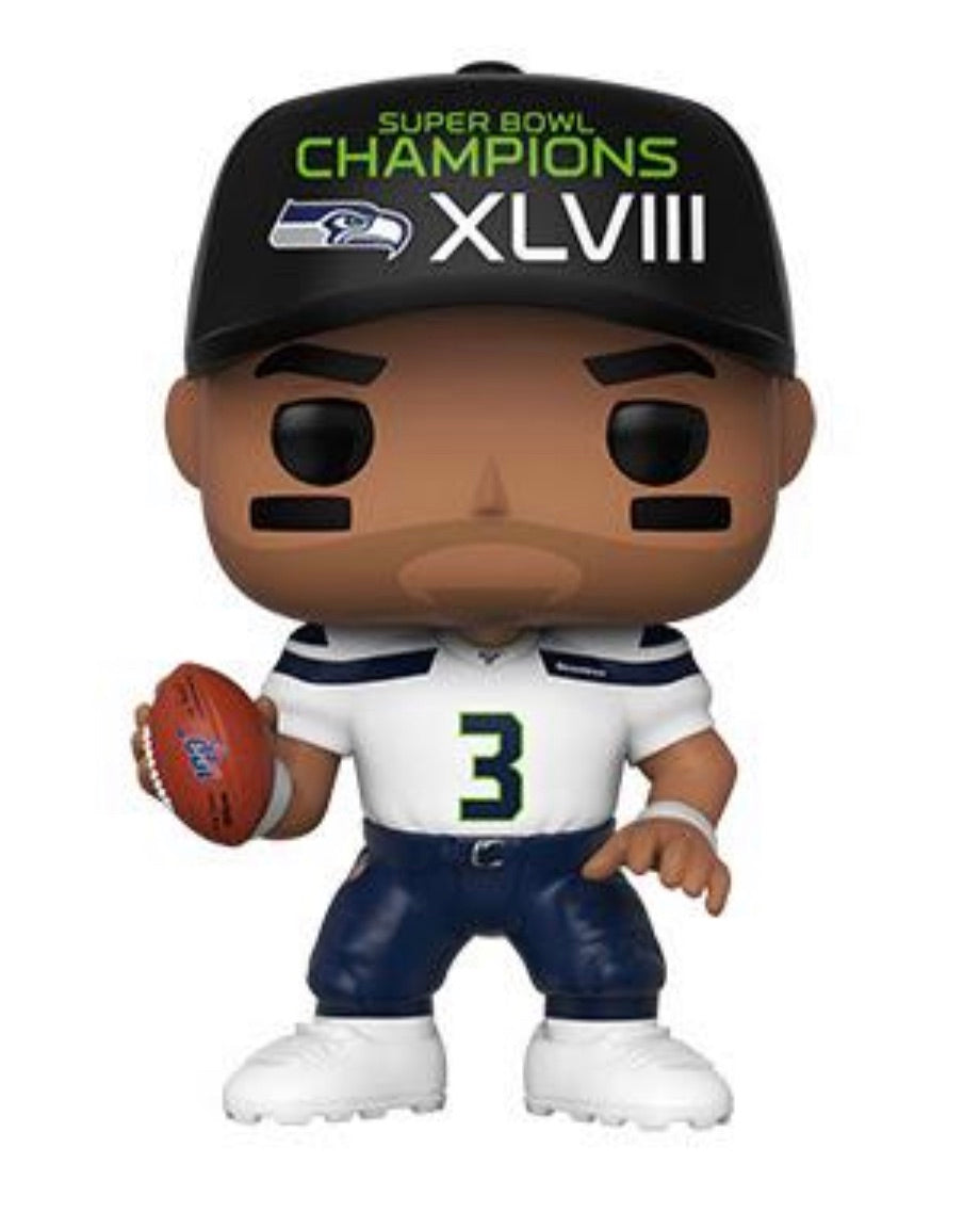 NFL 2019 SEAHAWKS FUNKO POP! RUSSELL WILSON (SUPERBOWL CHAMPION HAT) (PRE-ORDER)