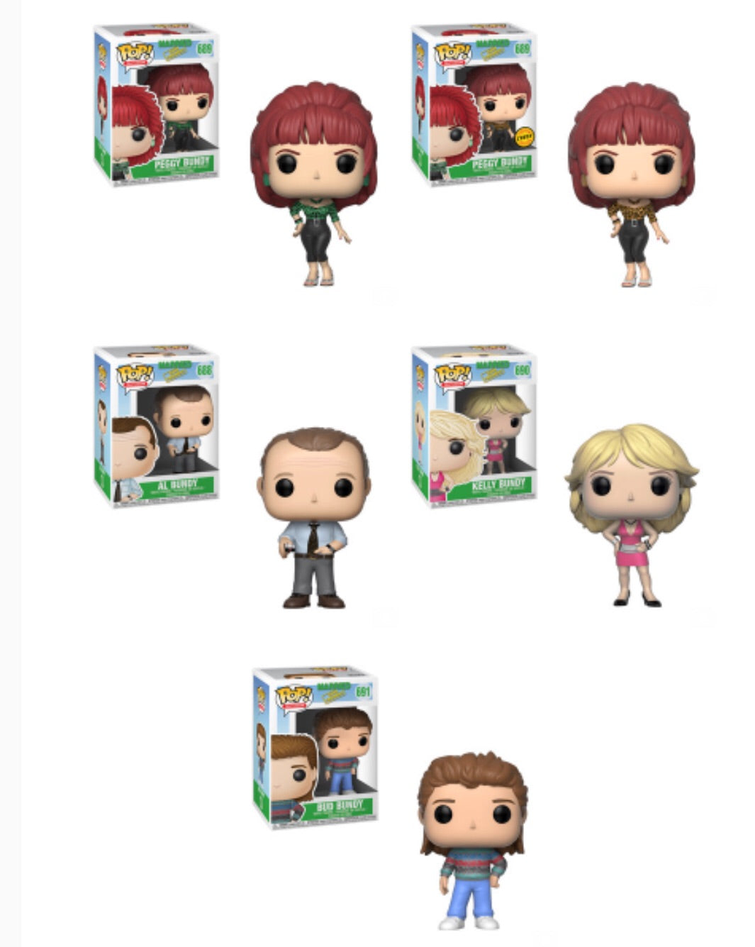 Married with Children Funko Pop! Complete Set of 5 CHASE Included