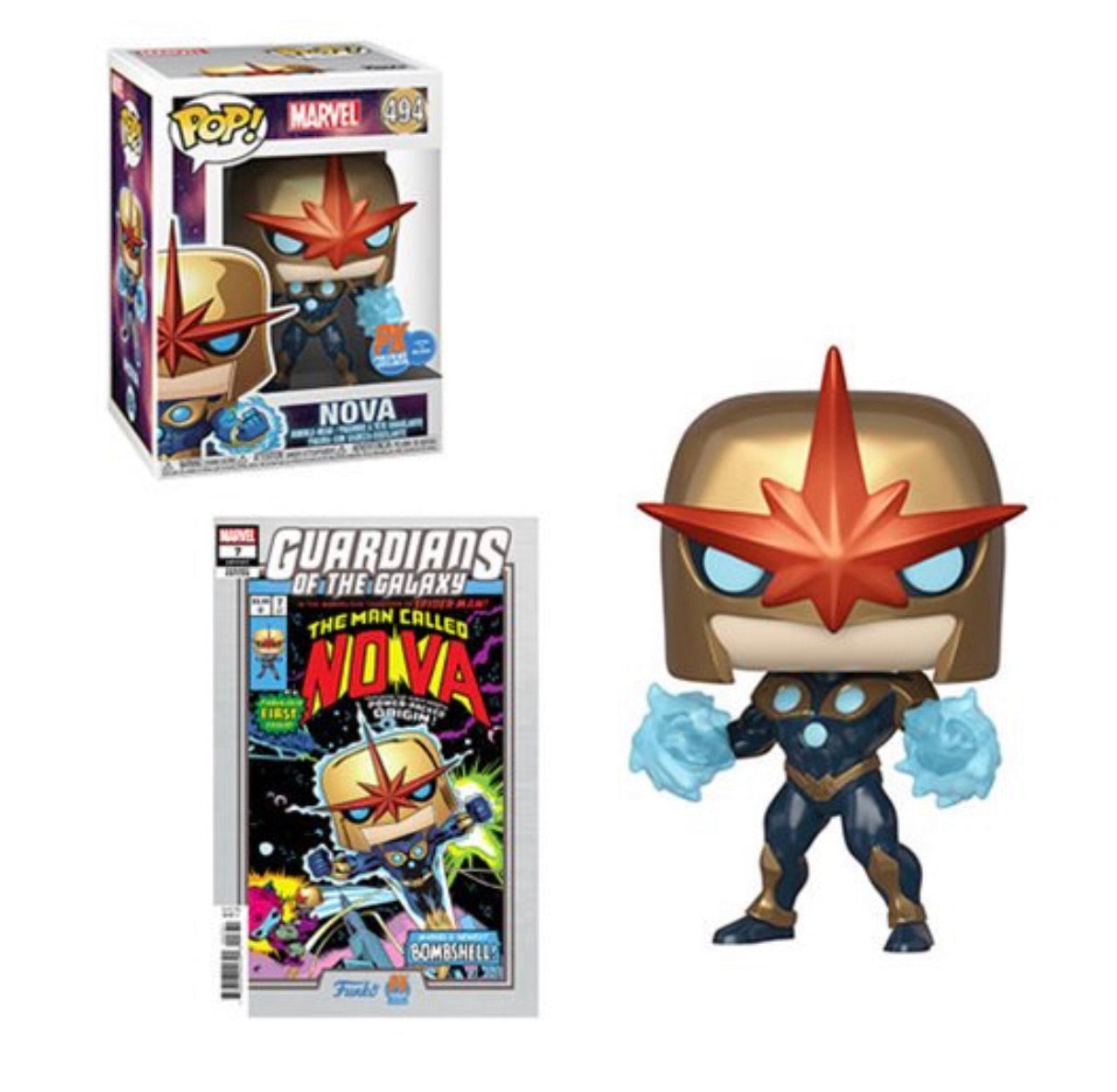 PoP! Marvel: Nova-PX Previews Exclusive (W/ Variant Comic) COMING AUGUST