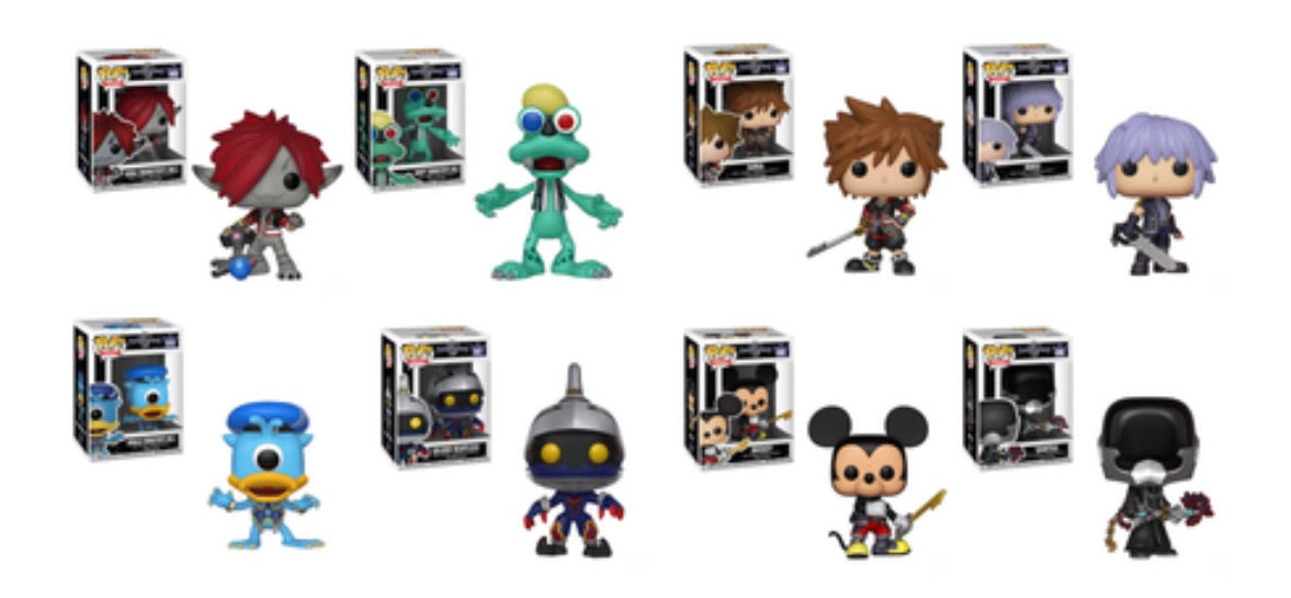 KINGDOM HEARTS 3 FUNKO POP! COMPLETE SET OF 8 (PRE-ORDER)