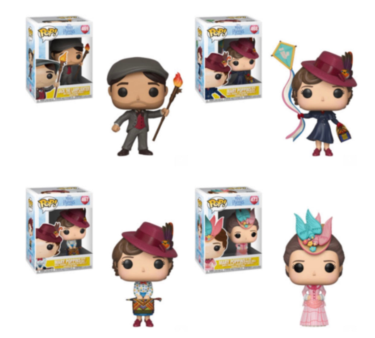 MARY POPPINS FUNKO POP! COMPLETE SET OF 4