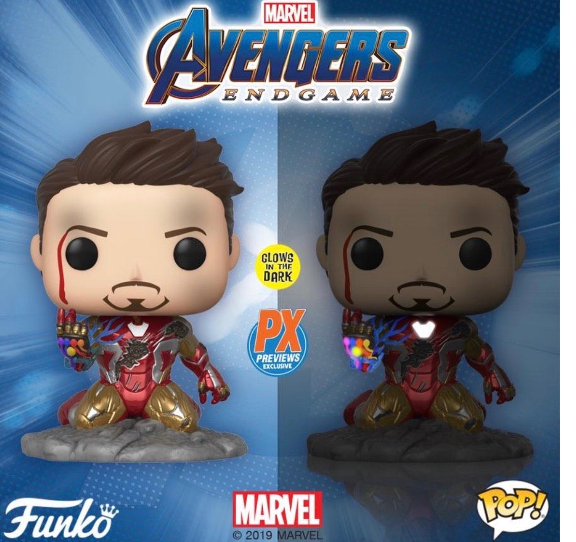PRE-ORDER - POP! Marvel: End Game, I Am Iron Man GITD PX Excl