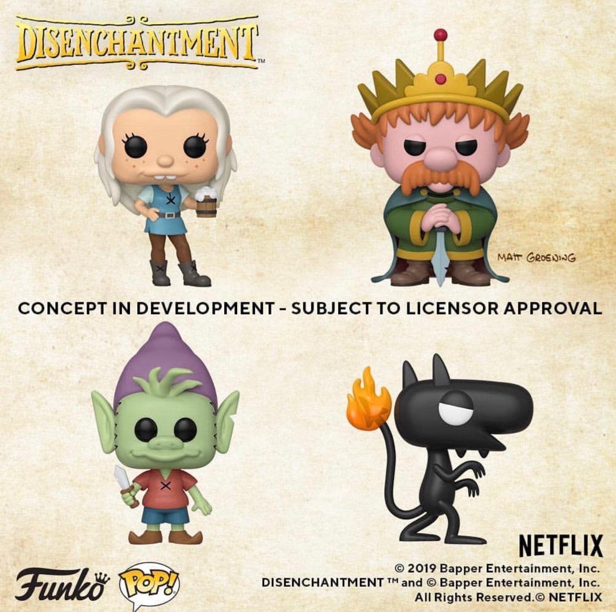 COMING SOON: POP! ANIMATION - DISENCHANTMENT(Preorder)