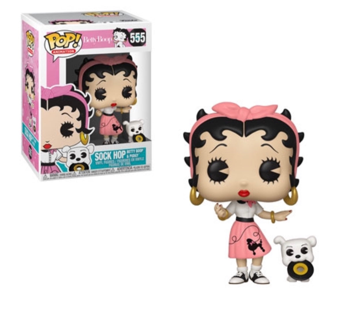 Pop! Animation: Sock Hop Betty Boop & Pudgy(Preorder)