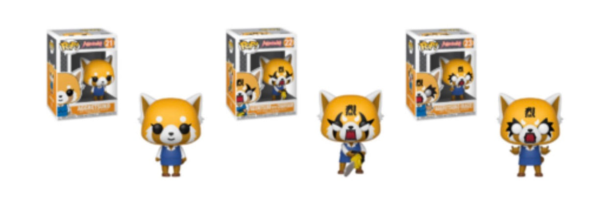 AGGRETSUKO FUNKO POP! COMPLETE SET OF 3 (PRE-ORDER)