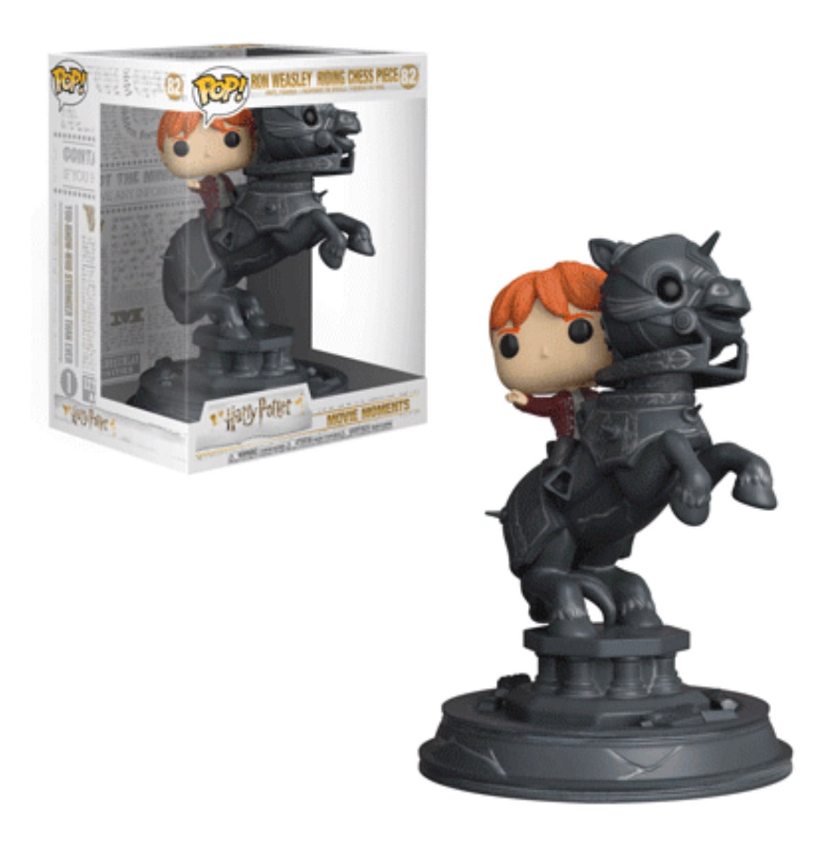 HARRY POTTER FUNKO POP! RON RIDING CHESS PIECE (MOVIE MOMENT)