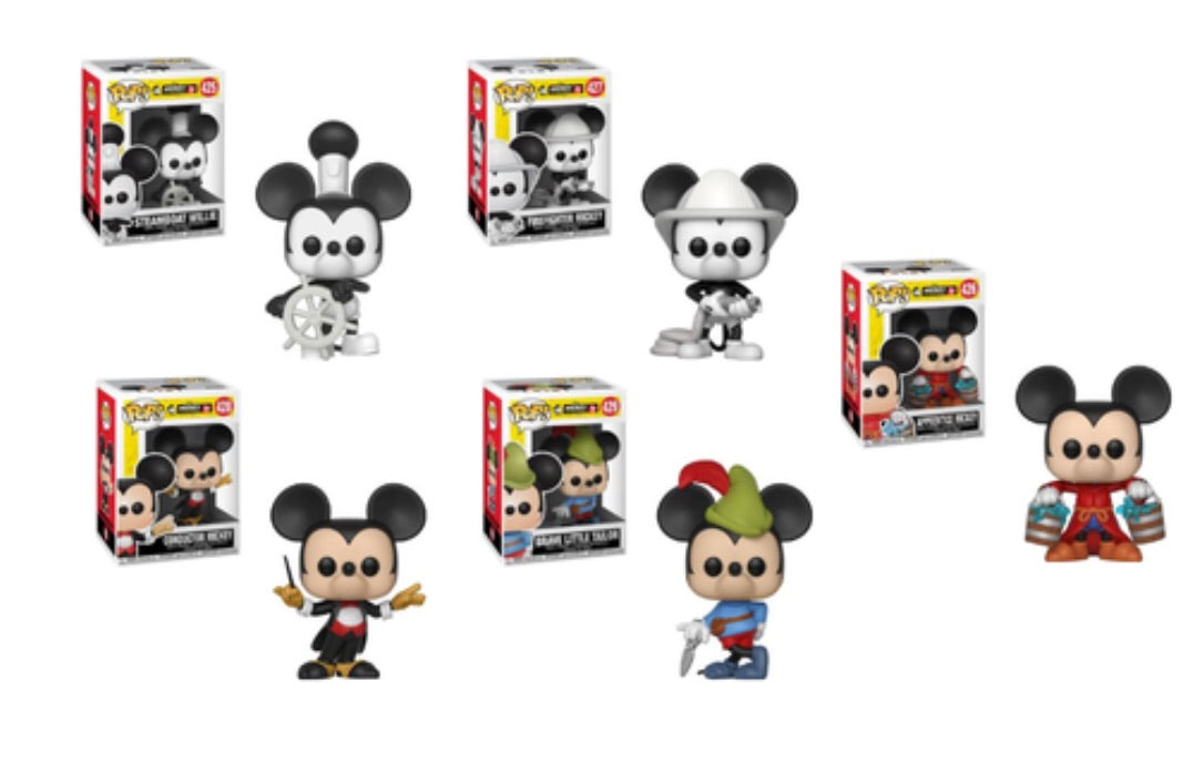 MICKEY'S 90TH FUNKO POP! COMPLETE SET OF 5 (PRE-ORDER)