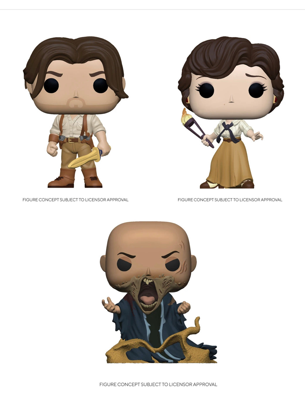 POP MOVIES: THE MUMMY BUNDLE SET (3) FIGURES
