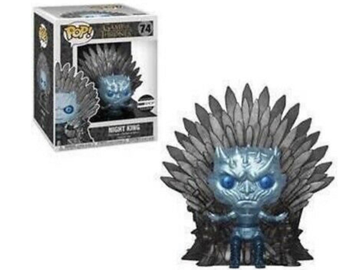 Preorder-METALLIC NIGHT KING ON IRON THRONE - Funko Pop Game Of Thrones