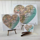 self adhesive wairoa prints - heart shape