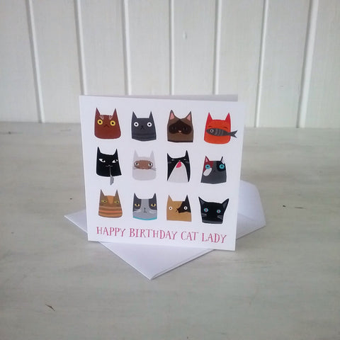 BIRTHDAY cat lady card