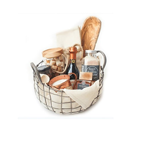 aluminium wire basket with napkin