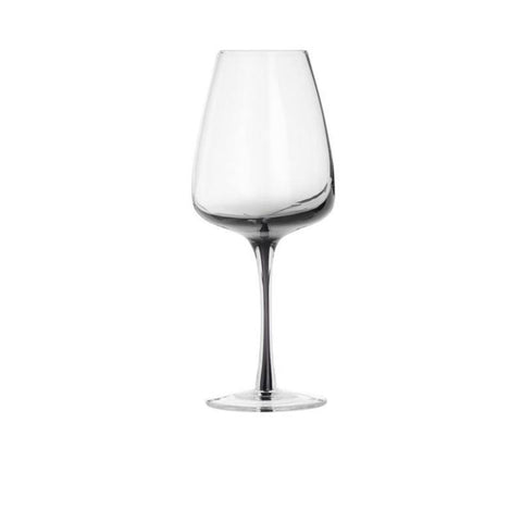set of four white wine glasses  - smoke