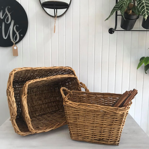 willow rectangular wood baskets