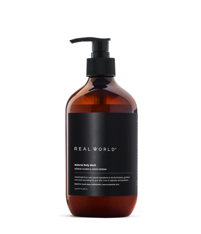 kowhai flower and lemon verbena body wash by Real World
