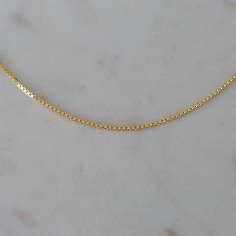 box chain necklace by Sophie