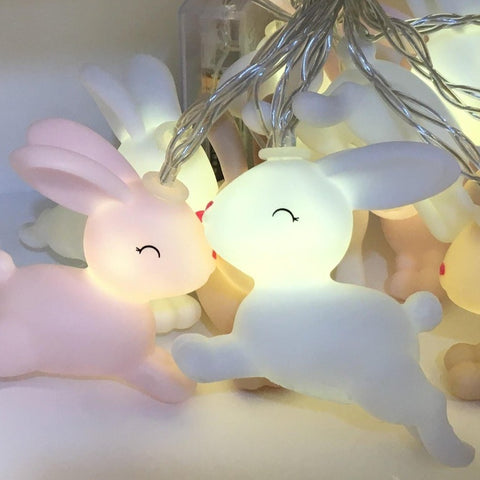 baby bunny string light - battery operated