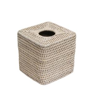 Geneva square rattan tissue box