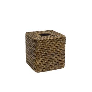 Coco square rattan tissue box
