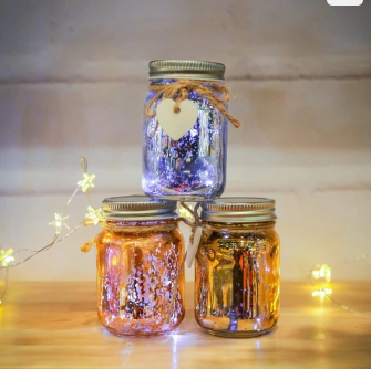 mini sparkle jars