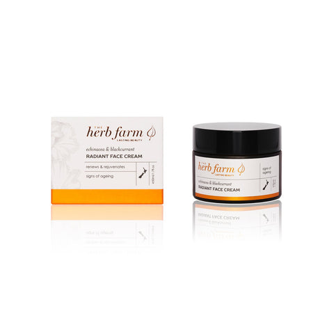 echinacea + blackcurrant radiant face cream by The Herb Farm
