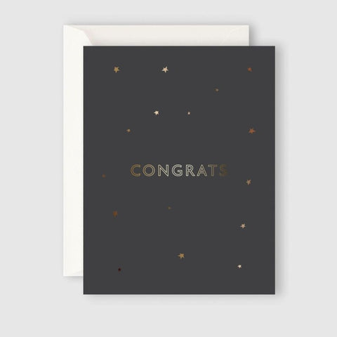 STARRY CONGRATS greeting card