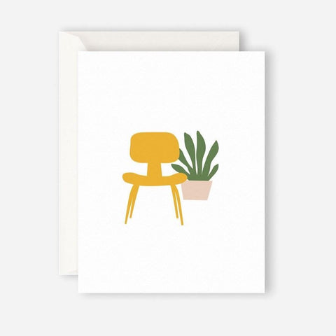 YELLOW CHAIR greeting card